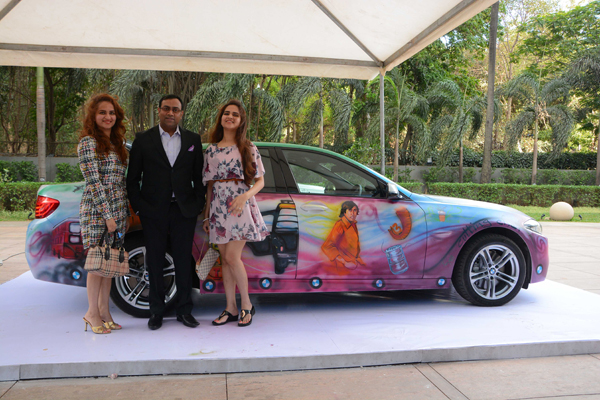 A Bmw Turned Into A Captivating Canvas In A Fiesta Of World Class Food Wine Amp Art Travelmail