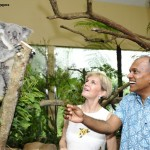 K Shanmugam, Minister for Foreign Affairs and Minister for Law, Singapore, and The Honourable Julie Bishop, Minister for Foreign Affairs, Australia, with Koala Pellita