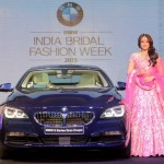 Sonakshi Sinha enchanted by the new BMW 6 Series Gran Coupé at the BMW India Bridal Fashion Week 2015 curtain raiser