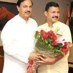 The Uttarakhand Tourism Minister Mr Dinesh Dhanai and Minister of State for Tourism & Culture (IC) and Civil Aviation, Dr. Mahesh Sharma in New Delhi.