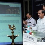 The Minister of State for Culture & Tourism (IC) and Civil Aviation, Dr. Mahesh Sharma launching the NOC Online Application Portal & Processing System (NOAPS) for National Monuments Authority in New Delhi on September 29, 2015. The Secretary, Ministry of Culture, Mr Narendra Kumar Sinha is also seen.