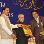 President of India, Shri Pranab Mukherjee presenting the award to Punish Sharama, General Manager, Meluha The Fern