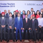 Saeed A. Al Dhaheri, Cruise Sector & City Tour Development Section Manager; Abdulla Mohammed Al Mansouri, City Tour Executive, Tourism Ecosystem and Leisure Department; Bejan Dinshaw, Country Manager (India), Abu Dhabi Tourism & Culture Authority, with Abu Dhabi key stakeholders and Indian Cruise Providers at the event.