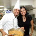 Indian Chef Suresh Mathpal with a local Chef from Israel