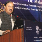"The Minister of State (IC) for Culture & Tourism and Civil Aviation, Dr. Mahesh Sharma addressing at the launch of the ""Sawchh Parayantan Mobile App"", at a function in New Delhi"