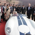 Sh. Manohar Lal Khattar, CM, Haryana at 21 Gun Salute vintage car rally & concours show 2016 at Red Fort with Madan Mohan, Founder 21 Gun Salute