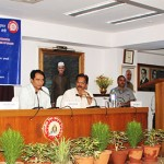 "The Union Minister for Railways, Mr Suresh Prabhakar addressing at the inauguration of the ""Facility of Cancellation of PRS Ticket through Railway Enquiry No. 139 and IRCTC website and Booking of E-Tickets through International Credit/Debit Cards"" in New Delhi on April 29, 2016. The Minister of State for Railways, Mr Manoj Sinha, Chairman, Railway Board, Mr A.K. Mital and other senior officials are also seen."