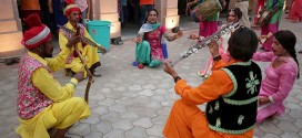 Artists performing during Amritsar Heritage Festival