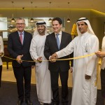 (L/R) Shane O'Hare, Etihad Airways Senior Vice President Marketing; Mohammed Al Katheeri, Acting Chief Operations Officer of Abu Dhabi Airports; Peter Baumgartner, Etihad Airways Chief Executive Officer; and Khaled Almehairbi, Etihad Airways Senior Vice President Abu Dhabi Airport Operations, celebrating the opening of the new First Class lounge at Abu Dhabi International Airport.