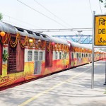 'Tiger Trail Circuit Train' being flagged off   from Delhi Safdarjung Station  in New Delhi