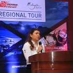 Sharmila Nadarajah, Chief Commercial Officer of Sepang International Circuit addressing media