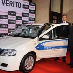 "New Delhi: Mahindra & Mahindra CEO (Automotive) Pravin Shah and Mahindra Reva Electric Vehicles CEO Arvind Mathew at the launch of  Mahindra's all electric ""e-Verito"" in New Delhi, on June 2, 2016. (Photo: IANS)"