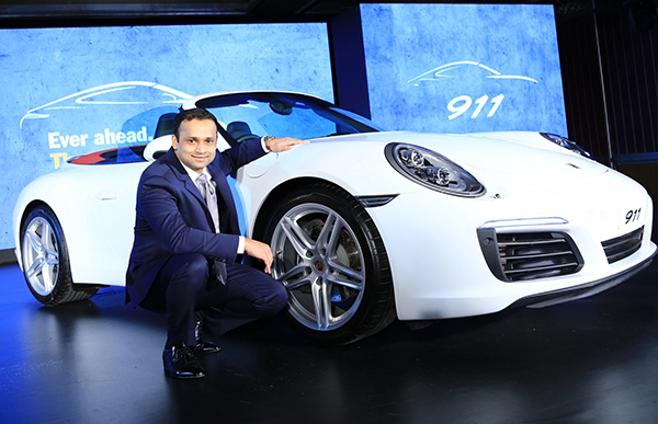 Bengaluru: Pavan Shetty, Director, Porsche India at the launch of Porsche 911, in Bengaluru on July 23, 2016. (Photo: IANS)