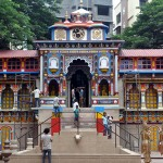 Mumbai: A replica of the Badrinath temple being constructed ahead of Ganesh Chaturthi at Lalbaug in Mumbai.