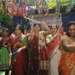 Patna: Women perform during a Dandia programme organised on Navratri festival in Patna on Oct 4, 2016. (Photo: IANS)