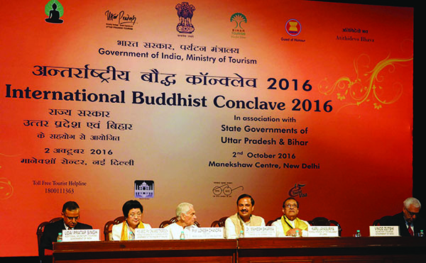 Konklaf Buddhis Internasional 2016 (International Buddhist Conclave 2016), 2-6 Oktober 2016, di New Delhi., India.