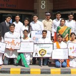 AIHTM students with Principal, AIHTM, ITDC on the 8th PSU celebration day