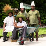 Chefs and gardening team working together_Six Senses Laamu