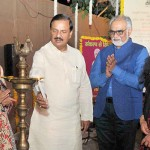 "The Minister of State for Culture (I/C) and Environment, Forest & Climate Change, Dr. Mahesh Sharma lighting the lamp to inaugurate the ""Deep Dharohar"", Ministry of Culture's function to celebrate Deepawali, in New Delhi."