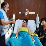 The Minister of State for Tourism (I/C) Shri Alphons Kannanthanam visited the injured Swiss tourist couple Quentin Jeremy Clerc and Marie Droz at Apollo Hospital in New Delhi.
