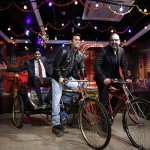 Anshul Jain, General Manager and Director, Merlin Entertainments India Pvt. Ltd Marcel Kloos, Director New Openings Europe and Emerging markets with Salman Khan figure at Madame Tussauds Delhi