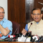 The Minister of State for Civil Aviation, Shri Jayant Sinha briefing the media on the proposed Passenger Charter and aspects of Air Sewa etc., in New Delhi. The Secretary, Ministry of Civil Aviation, Shri R.N. Choubey is also seen.