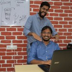 Founders of Luvstay, Karan Mago (standing) & Sumit Anand (sitting)