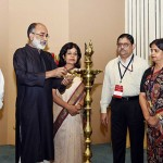 The Minister of State for Tourism (I/C), Mr. Alphons Kannanthanam lighting the lamp at the presentation of the National Tourism Awards (2016-17), on the occasion of World Tourism Day, organised by the Ministry of Tourism, in New Delhi. The other dignitaries and tourism officials are also seen.