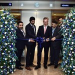 Harvinder Singh, Country Manager, United Airlines, India (second from left) and Thorsten Letnin – MD, United Airlines (third from left) at ribbon cutting ceremony