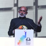 The Minister of State for Tourism (I/C), Shri Alphons Kannanthanam addressing the gathering, at the closing ceremony of the 49th International Film Festival of India (IFFI-2018), in Panaji, Goa.